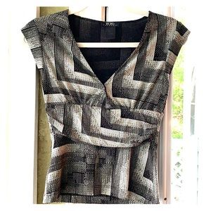 BCBG MaxAzria black gray shirt XS